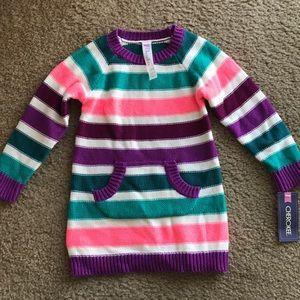 Cherokee baby girls striped sweater dress 12 month